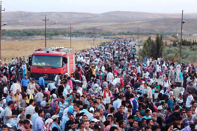 Di medyaya cîhanê de koça kurdên Rojava