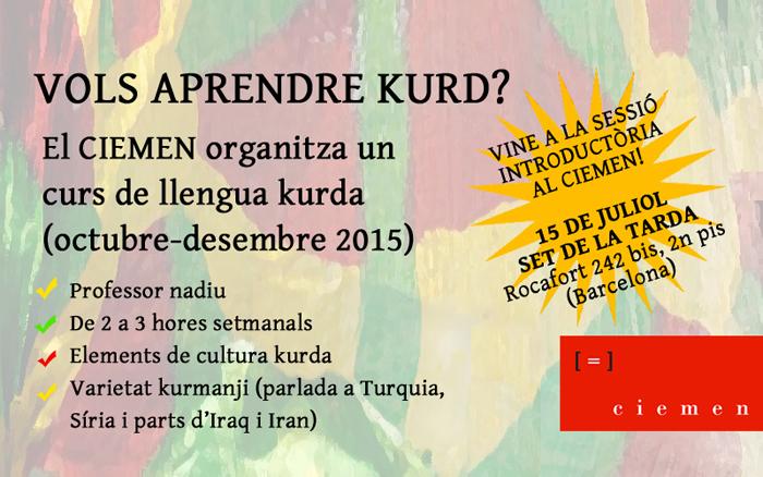 Li Barselonayê kursa zimanê kurdî