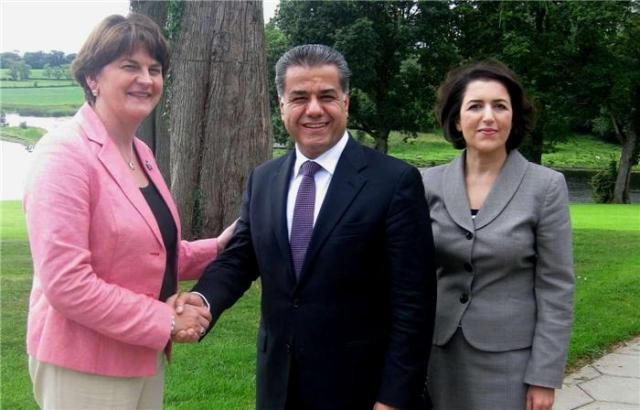 Îrlandaya Bakur heyeta Başûrê Kurdistanê pêşwazî kir
