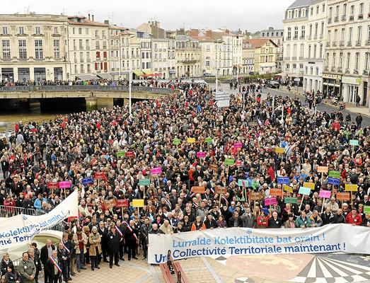 Li Fransayê xwepêşandana ji bo xweseriya Welatê Bask ê Bakur
