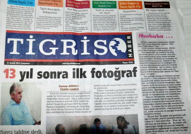 """Rojnameya Tîgrîs li Amedê dest bi weşanê kir. Tîgrîs bi kurdî û tirkî tê weşandin û ji 16 rûpelan pêk tê. Di hejmara ewilî ya rojnameyê de hat diyarkirin ku """"ew ê rojname ne girêdayî mitehîd, rantxur û ne jî dijminên gel be."""" Rojname ji rûpelên aktuel, polîtîka, civak, çand û huner, jin, aborî, cîhan û herêmê pêk tê."""